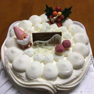 白バラ クリスマスケーキ